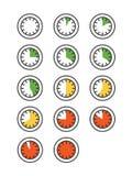 Icone del temporizzatore messe Fotografia Stock