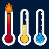Icone del termometro Fotografia Stock