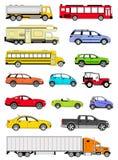 Icone del trasporto Fotografie Stock Libere da Diritti