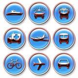 Icone del trasporto Fotografie Stock