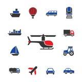 Icone del trasporto Fotografia Stock Libera da Diritti