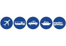 Icone del trasporto Immagini Stock Libere da Diritti