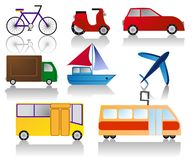 Icone del trasporto Immagine Stock