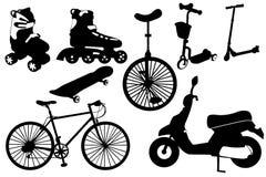 Icone del trasporto di esercizio illustrazione vettoriale