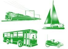 Icone del trasporto di simbolo Fotografia Stock