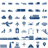 Icone del trasporto impostate Immagini Stock Libere da Diritti