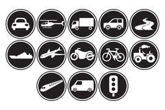 Icone del trasporto messe Fotografia Stock Libera da Diritti