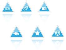 Icone del triangolo Fotografia Stock