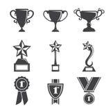 Icone del trofeo Immagini Stock Libere da Diritti
