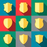 Icone del trofeo Cappotto delle braccia royalty illustrazione gratis