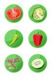 Icone del Veggie Fotografia Stock