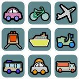 Icone del veicolo royalty illustrazione gratis