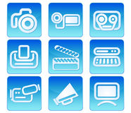 Icone del video della foto Fotografie Stock