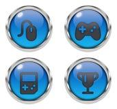 Icone del video gioco Immagini Stock