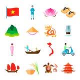 Icone del Vietnam messe Immagini Stock Libere da Diritti