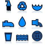 Icone dell'acqua illustrazione vettoriale