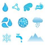 Icone dell'acqua Fotografie Stock Libere da Diritti