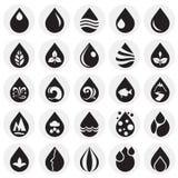 Icone dell'acqua di goccia messe sul fondo dei cerchi per il grafico ed il web design, segno semplice moderno di vettore Concetto royalty illustrazione gratis