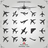 Icone dell'aeroplano messe Fotografia Stock