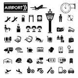 Icone dell'aeroporto Fotografia Stock