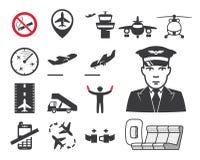 Icone dell'aeroporto Immagine Stock Libera da Diritti