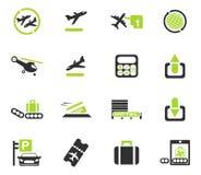 Icone dell'aeroporto Fotografie Stock