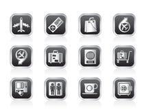 Icone 1 dell'aeroporto, di corsa e del trasporto Fotografia Stock