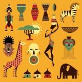 Icone dell'Africa Fotografie Stock Libere da Diritti