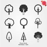 Icone dell'albero Fotografia Stock