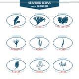 Icone dell'alga messe royalty illustrazione gratis