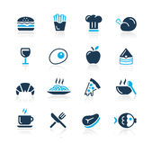 Icone dell'alimento - 1 serie di azzurro di // Immagini Stock