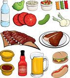 Icone dell'alimento Fotografia Stock Libera da Diritti