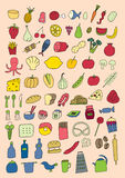Icone dell'alimento Fotografia Stock