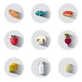 Icone dell'alimento Fotografie Stock