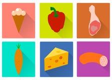 Icone dell'alimento Immagini Stock