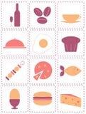Icone dell'alimento Fotografie Stock Libere da Diritti