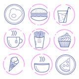 Icone dell'alimento di vettore royalty illustrazione gratis