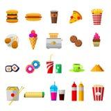 Icone dell'alimento di vettore illustrazione di stock