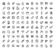 Icone dell'alimento di vettore messe illustrazione vettoriale