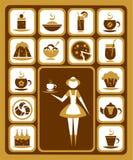 Icone dell'alimento impostate Immagini Stock