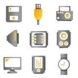 Icone dell'apparecchio elettronico Immagini Stock