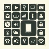 Icone dell'applicazione per lo smartphone illustrazione di stock