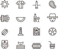 Icone dell'Argentina illustrazione di stock