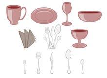 Icone dell'articolo da cucina illustrazione vettoriale