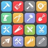 Icone dell'attrezzo per il web o il cellulare Vettore Fotografia Stock Libera da Diritti