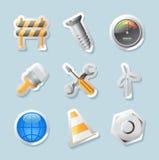 Icone dell'autoadesivo per industria royalty illustrazione gratis