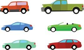 Icone dell'automobile illustrazione di stock