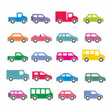 Icone dell'automobile Immagine Stock