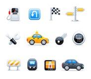 Icone dell'automobile di vettore Fotografia Stock