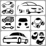 Icone dell'automobile messe illustrazione di stock